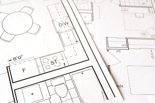 an image of plans for a home remodel